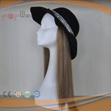 Human Hair Combinations Hat Cap Beautiful Women Hat