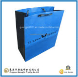 Customized Blue Color Paper Shopping Hand Bag (GJ-Bag082)