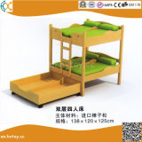 Kindergarten Children Wooden Double Beds Hx4301g