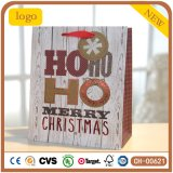Christmas Coated Paper Hohoho Patten Gift Paper Bag