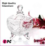 Decorative Glass Candy Jar (GB1805LB/P1)