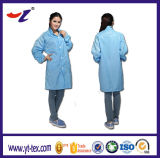 Antielectro Stripes Fabric Man Cleaning Clothes White and Blue Washable ESD Working Clothes for Production Workshop