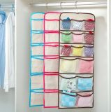 Hanging Closet Organizer - 15 Mesh Pockets Breathable Hanging Shelves - for Clothes Storage and Accessories,