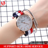Yxl-244 New Style Diamond Men Watch Promotional Leather Nylon Strap Stainless Steel Back Business Quartz Mens Watches