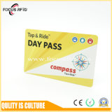 Full Color Printed Both Sides RFID Chip Card NXP MIFARE and Em4100