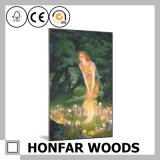 European Romantic Fairy Art Painting with Wood Frame