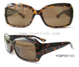 Europe Shape Tortoise Color Cp Sun Glasses