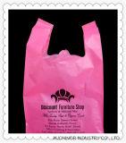 Plastic HDPE Custom Printed T-Shirt Bag Singlet Bag