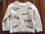 Girls Chain Tape Emb Jumper - Feather Yarn Knitted Sweater