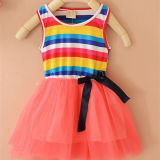 Rainbow Dress Designed for Cute Girls with High Quallity