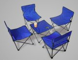 Foldable Kids Camping Metal Chairs with Table Set (MW11037A)