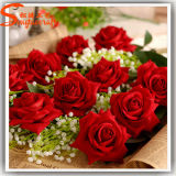 2015 Guangzhou Wholesale Fake Artificial Rose Flower That Look Real