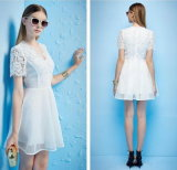 2015 Summer New Mesh & Lace Girl Bridesmaid Dress