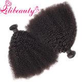 Afro Kinky Curl Human Hair Peruvian Hair Weaving