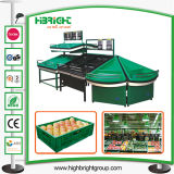 Retail Store Double Sided Fruit and Vegetables Display Stand