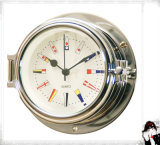 Nautical Quartz Clock 12 Hour Signal Flag Numberal Dial 81mm