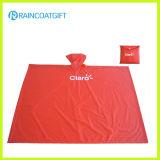 Custom Logo Printed Red Plain Plastic PVC Raincoat