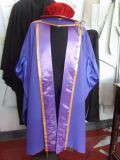 Most Popular Fancy Purple UK Style Doctoral Gown and Bonnet