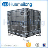 Warehouse Collapsible Steel Metal Wire Storage Cages with Wheels