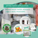 PE & Stone Powder Synthetic Paper for Supermarket Vegetable &Fruit Packing