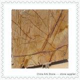 Rainforest Golden Brown Marble Slab (building material)