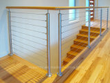Outdoor Top Quality 316 Stainless Steel Cable Railing / Wire Balustrade