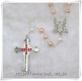 New Pope Francis Rosary, Wood Beads Rosary, Pearl Beads Rosaries (IO-cr360)