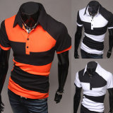 2016 Wholesale Men's Summer Slim Short Sleeve Polo Shirt