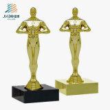 Custom Craft Promotion Gift Souvenir Oscar Gold Metal Decoration Trophy