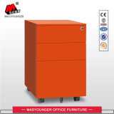 Manufacture of Office Use Metal Movable Cabinet with 3 Drawer