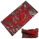 Red+Black Lucky Design Seamless Scarf