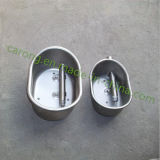 Stainless Steel Ellipse Shape Pig Water Drinking Bowl
