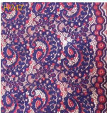 Colorful Flower Pattern Lace Fabric (with oeko-tex standard 100 certification)