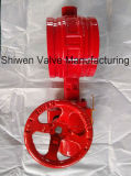Fire Fighting Signal Butterfly Valve with Worm Gear