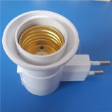 E27 Alminium Coated Brass Two Pins Plug Lamp Holder (L-051)