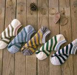 Spring Autumn Boat Striped Cotton Fashion Wholesale Men′s Socks