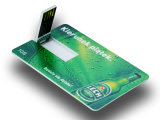 Promotional Credit Card USB Flash Drive, Card Shaped USB Flash Memory