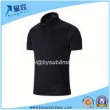 Dacron Quick Dry Black Polo T-Shirt
