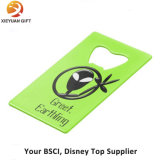 Custom Green Earthling Credit Card Bottle Opener