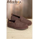 Comfort Australian Sheepskin Men′s Shoes in Chocolate