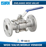 Full Port Stainless Steel Floating Flange 3PC Ball Valve