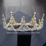 2018 Newest Customized Crystal Crown Wedding Glass Stonne Christmas Party Gift Baroque Tiaras Bridal Crown (BC-09)