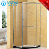 Diamond Design Shower Enclosure with Stainless Steel Frame (BL-B0032-Z)