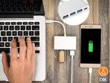 Type C Hub to USB3.0X3 4 in 1 Multi Port Aluminium Alloy Case Adapter for Ios MacBook Samsung S8
