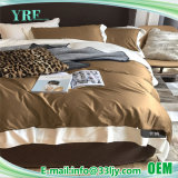 Custom Luxurious Hotel 1000t Tan and White Bedding