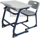 Modern Wooden School Furniture Single Desk and Chair