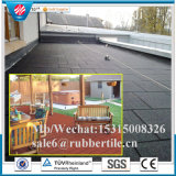 Outdoor Playground Rubber Flooring Tile, Square Speckles Rubber Tile