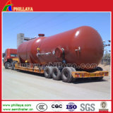 Multi Hydraulic Axle Lowboy Semi Trailer for Big Tank