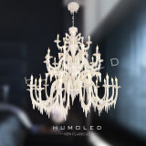 White modern resin chandelier (H1264/15+10+5)