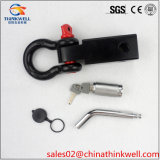 Recovery Hitch Point Hitch Receiver with Bow Shackle